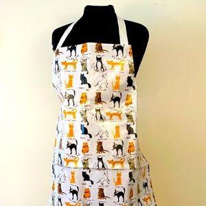 Cat apron pvc coated waterproof cotton ties